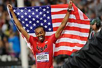 LONDON OLYMPIC GAMES 2012 - OLYMPIC STADIUM , LONDON (ENG) - 08/08/2012 - PHOTO : POOL / KMSP / DPPI<br /> ATHLETICS - MEN'S 110 M HURDLES - ARIES MERRITT (USA)