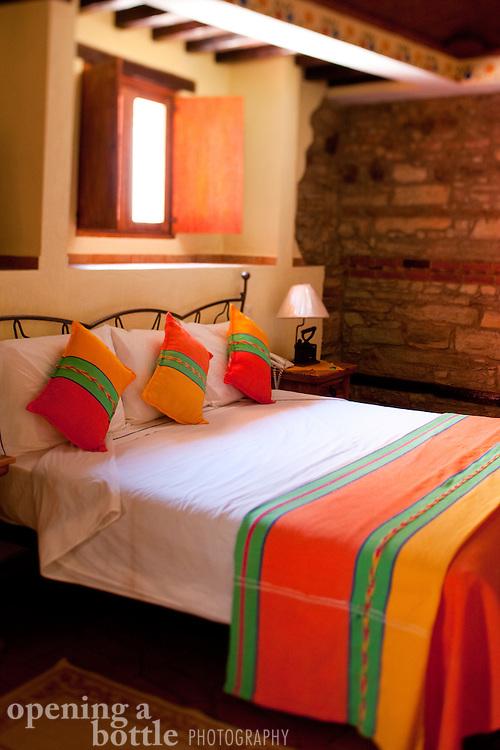 Bedroom at Hotel Antiguo Vapor, Guanajuato, Mexico