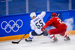 16-02-2018 KOR: Olympic Games day 7, PyeongChang<br /> Ice Hockey Russia (OAR) - Slovenia 8 - 2 in Gangneung Hockey Centre	/ forward Robert Sabolic #55 of Slovenia