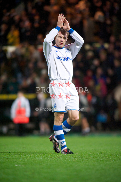 NORWICH, WALES - Saturday, November 14, 2009: Tranmere Rovers' Ian Moore looks dejected after losing 2-0 against Norwich City during the League One match at Carrow Road. (Pic by David Rawcliffe/Propaganda)