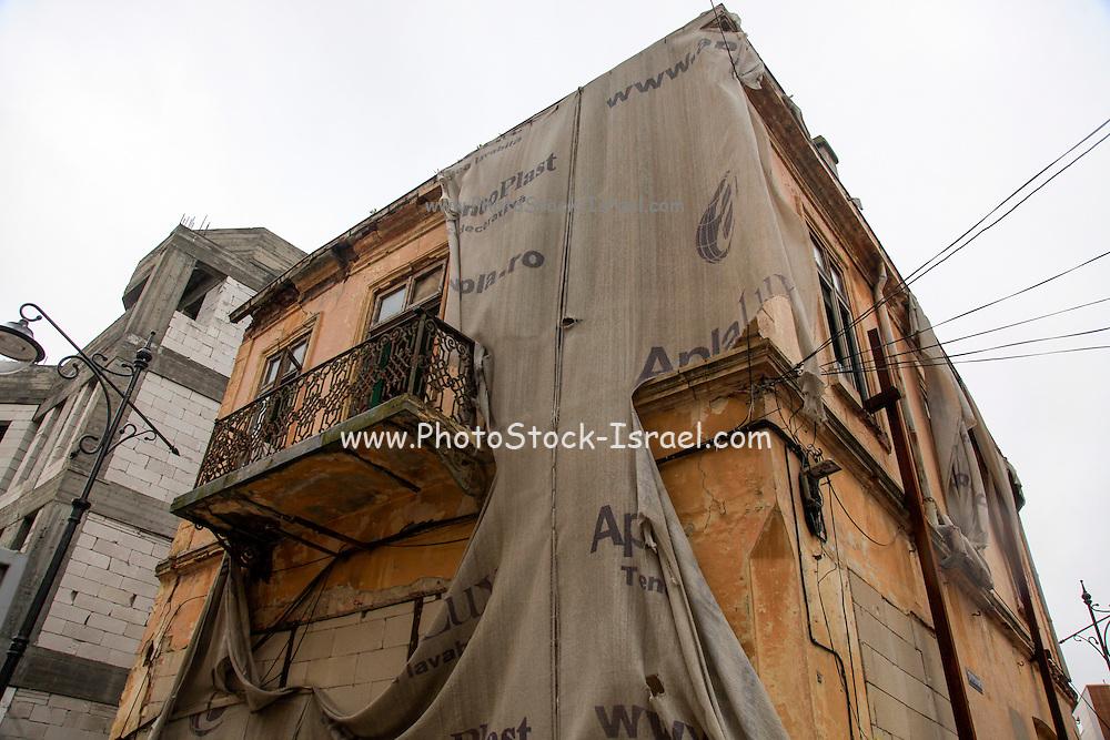 Post communist decay, abandoned building deterioration, Bucharest Romania