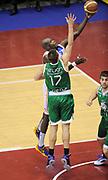 DESCRIZIONE : Milano Coppa Italia Final Eight 2014 SemiFinale Montepaschi Siena Enel Brindisi <br /> GIOCATORE : Delroy James<br /> CATEGORIA : penetrazione tiro<br /> SQUADRA : Enel Brindisi <br /> EVENTO : Beko Coppa Italia Final Eight 2014 <br /> GARA : Montepaschi Siena Enel Brindisi <br /> DATA : 08/02/2014 <br /> SPORT : Pallacanestro <br /> AUTORE : Agenzia Ciamillo-Castoria/N.Dalla Mura <br /> GALLERIA : Lega Basket Final Eight Coppa Italia 2014 <br /> FOTONOTIZIA : Milano Coppa Italia Final Eight 2014 Semifinale Montepaschi Siena Enel Brindisi