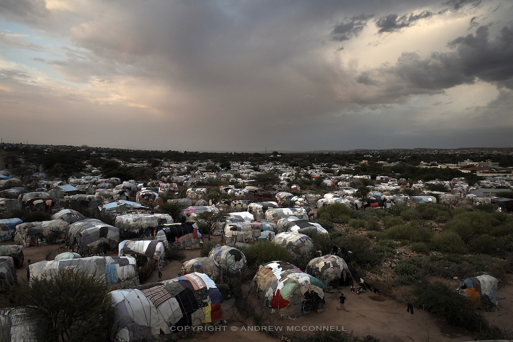 The State House camp for displaced persons on the outskirts of Hargeisa, Somaliland, on Saturday, July 21, 2007..Somaliland declared independence from Somalia in May, 1991, after a brutal civil war ended with the overthrow of military dictator Siad Barre. For the past 16 years the country has operated as a de facto state with relative stability; it has a constitution, a working political system, government institutions, police and military and its own currency. The multi-party elections of 2002 were declared the most peaceful in Africa for 20 years. ..However, despite its success, no country formally recognizes Somaliland's sovereignty. With high unemployment and widespread poverty  Somaliland's leaders believe recognition will pave the way for much needed aid and support from International financial institutions. With officially recognized diplomatic offices in London and Brussels and improving relations with many other nations, Somaliland is making increasingly credible claims to statehood.