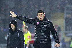 Derry City manager Declan Devine.<br /> <br /> Cobh Ramblers v Athlone Town / SSE Airtricity Division 1 / 2.3.19 /  St. Colman's Park, Cobh / <br /> <br /> Copyright Steve Alfred/photos.extratime.ie/pitchsidephoto.com 2019