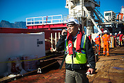 GAC Employee onboard the Boa Sub C Multi purpose Offshore Vessel