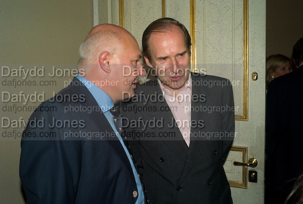 ROLF SACHS AND SIMON DE PURY, private view for Julian Schnabel: Christ's Last Day Atto II - <br />