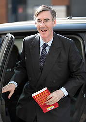 © Licensed to London News Pictures. 15/05/2016. London, UK. Conservative MP Jacob Rees-Mogg arrives to appear on ITV's Peston's Politics. Photo credit: Peter Macdiarmid/LNP