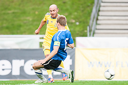 28.05.2012, Kufstein Arena, Kufstein, AUT, UEFA EURO 2012, Testspiel, Ukraine vs Estland, im Bild Sergiy Nazarenko, (UKR, # 18), Ragnar Klavan (EST, #15) // Sergiy Nazarenko, (UKR, # 18), Ragnar Klavan (EST, #15) during the Preparation Game for the UEFA Euro 2012 betweeen Ukraine and Estonia at the Kufstein Arena, Kufstein, Austria on 2012/05/28. EXPA Pictures © 2012, PhotoCredit: EXPA/ Juergen Feichter
