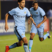 Jesús Navas, Manchester City, in action during the Manchester City Vs Liverpool FC Guinness International Champions Cup match at Yankee Stadium, The Bronx, New York, USA. 30th July 2014. Photo Tim Clayton