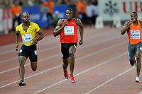 Asafa Powell (JAM), Usain Bolt (JAM) und Darvis Patton (USA) ueber 100m © Andy Mueller/EQ Images