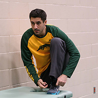 Alex Igual before his home game on December  3 at Centre for Kinesiology, Health and Sport. Credit: Matt Johnson/Arthur Images