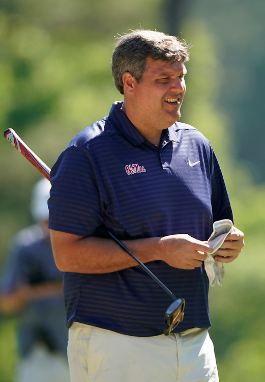 Ole Miss head football coach Matt Luke during the Chick-fil-A Peach Bowl Challenge at the Ritz Carlton Reynolds, Lake Oconee, on Tuesday, April 30, 2019, in Greensboro, GA. (Paul Abell via Abell Images for Chick-fil-A Peach Bowl Challenge)