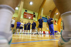 Slobodan Kovac, head coach of Slovenia and players during training camp of Slovenian Volleyball Men Team before Qualification tournament for FIVB Volleyball World Championship, on May 11, 2017 in Arena Vitranc, Kranjska Gora, Slovenia. Photo by Matic Klansek Velej / Sportida