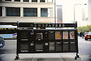 On November 7, Newspaper boxes up and down Michigan Avenue in Chicago were sold out of the election day issue before noon.