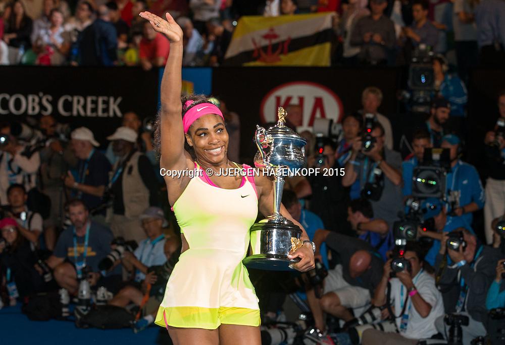 Serena Williams (USA)<br /> Tennis - Australian Open 2015 - Grand Slam ATP / WTA -  Melbourne Olympic Park - Melbourne - Victoria - Australia  - 31 January 2015.