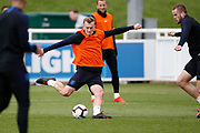 James Ward-Prowse (Southampton) during the England training session ahead of the UEFA Euro Qualifier against the Czech Repulbic, at St George's Park National Football Centre, Burton-Upon-Trent, United Kingdom on 19 March 2019.