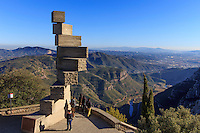 "The  ""Stairway to Understanding"" by sculptor Josef M. Subirach at the Montserrat monastery on the outskirts of Barcelona, Spain"