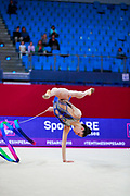 Milena Baldassarri from Italy is a really young but talented gymnast. She was born in Ravenna on October 16, 2001. She represented Italy at the 2017 World Rhythmic Gymnastics Championships in Pesaro, where she finished 9th.