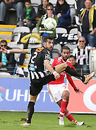 Nacional´s player João Aurélio watches the ball go pass  during the Portuguese First League football match Nacional vs Benfica held at Madeira Stadium, Funchal, Portugal, 11 January, 2016.  LUSA / GREGORIO CUNHA
