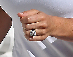ALTERNATE CROP<br /> The engagement ring worn by Pippa Middleton, sister of the Duchess of Cambridge as she goes for a run outside her London home, a day after she announced her engagement to financier James Matthews.