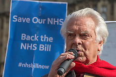 11 Mar 2016 - Campaigners rally to support the NHS Reinstatement Bill.