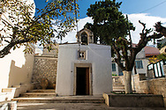 A small orthodox church in the small town of Archanes on the Greek island of Crete . Commissioned by PR Media Co.