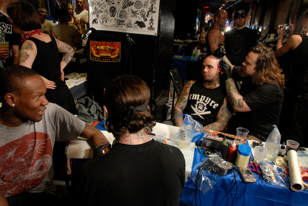 New York City Tattoo Convention 2009 at the Roseland Ballroom: Business is booming at New York Adorned.