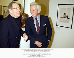 Left to right, the EARL OF SNOWDON and the EARL OF LICHFIELD at an exhibition in London on 6th May 2003.	PJI 299