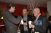 "KRISTIAN SIEBER, GRAHAM NORTON AND RICHARD WILSON, , World Premiere of the theatrical production of ""Edward Scissorhands"" at Sadler's Wells Theatre in London. 30 November 2005. ONE TIME USE ONLY - DO NOT ARCHIVE  © Copyright Photograph by Dafydd Jones 66 Stockwell Park Rd. London SW9 0DA Tel 020 7733 0108 www.dafjones.com"