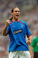Fotball<br /> Treningskamper England<br /> 31.07.2004<br /> Foto: SBI/Digitalsport<br /> NORWAY ONLY<br /> <br /> Newcastle United v Glasgow Rangers<br /> <br /> Rangers Dado Prso celebrates after scoring to give Rangers hope.