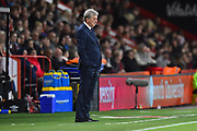 Crystal Palace manager Roy Hodgson in the technical area during the Premier League match between Bournemouth and Crystal Palace at the Vitality Stadium, Bournemouth, England on 1 October 2018.