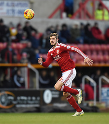 Swindon Town's Jack Stephens in action during the Sky Bet League One match between Swindon Town and Chesterfield at The County Ground on January 17, 2015 in Swindon, England. - Photo mandatory by-line: Paul Knight/JMP - Mobile: 07966 386802 - 17/01/2015 - SPORT - Football - Swindon - The County Ground - Swindon Town v Chesterfield - Sky Bet League One