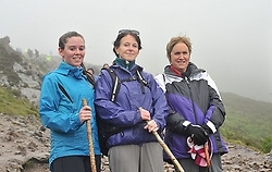 Reek sunday C&aacute;it Marley, Pauline Mulroy from Kilmeena and Loretto Marley from Glenhest climbed Croagh Patrick on sunday last.<br /> Pic Conor McKeown