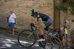 Malgorzata Jasinska (POL) of Cylance Pro Cycling rides near the top of the final climb of Stage 5 of the Giro Rosa - a 12.7 km individual time trial, starting and finishing in Sant'Elpido A Mare on July 4, 2017, in Fermo, Italy. (Photo by Balint Hamvas/Velofocus.com)