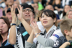 October 20, 2018 - Turin, Turin, Italy - Juventus FC fans show their support before the serie A match between Juventus FC and Genoa CFC at Allianz Stadium on October 20, 2018 in Turin, Italy. (Credit Image: © Giuseppe Cottini/NurPhoto via ZUMA Press)