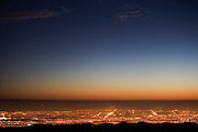 View of San Jose and Silicon Valley from the Lick Observatory on Mt. Hamilton. San Jose, California.