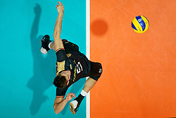 23-09-2019 NED: EC Volleyball 2019 Poland - Germany, Apeldoorn<br /> 1/4 final EC Volleyball Poland win 3-0 / Moritz Reichert #5 of Germany