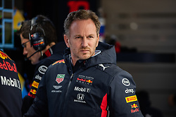 February 19, 2019 - Montmelo, BARCELONA, Spain - SPAIN, BARCELONA, 19 February 2019. Christian Horner Red Bull Racing Team principal during the winter test at Circuit de Barcelona Catalunya. (Credit Image: © AFP7 via ZUMA Wire)