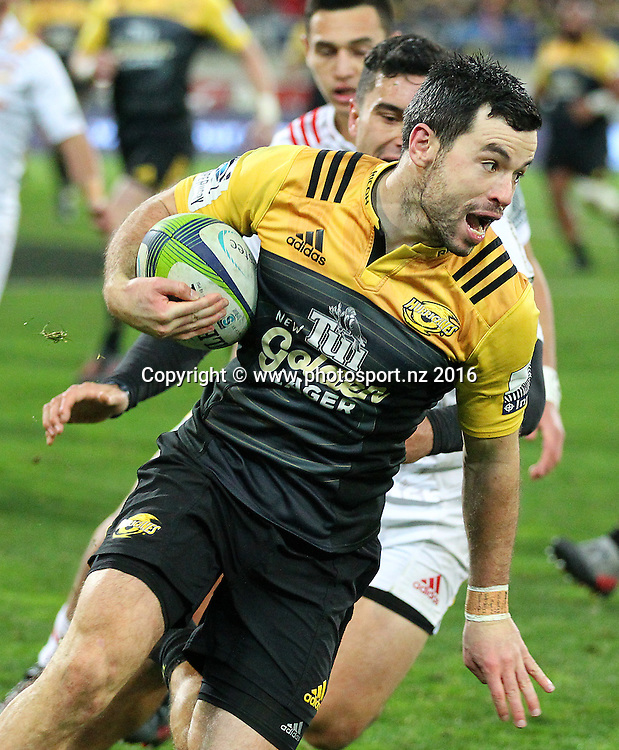 Hurricanes' James Marshall during the Investec Super Rugby Semi-Final match, Hurricanes v Chiefs at Westpac Stadium, Wellington, New Zealand. 30th July 2016. © Copyright Photo: Grant Down / www.photosport.nz