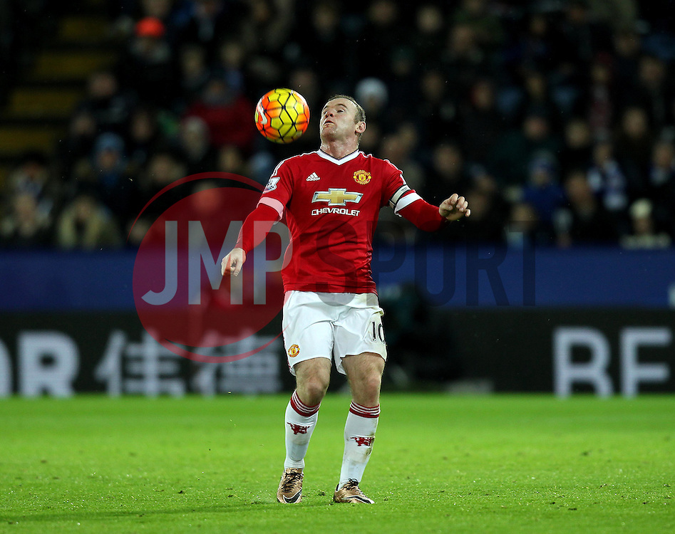 Wayne Rooney of Manchester United - Mandatory byline: Robbie Stephenson/JMP - 28/11/2015 - Football - King Power Stadium - Leicester, England - Leicester City v Manchester United - Barclays Premier League