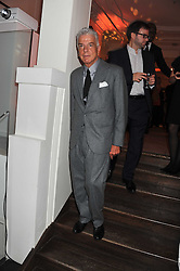 NICKY HASLAM at a reception to celebrate the publication of Candy and Candy: The Art of Design held at the Halcyon Gallery, 24 Bruton Street, London W1 on 26th October 2011.