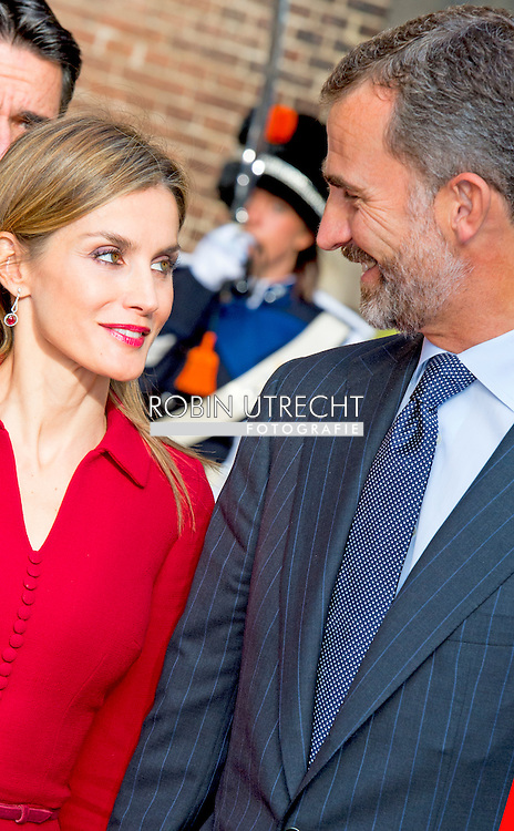 15-10- 2014 THE HAGUE - King Willem-Alexander and Her Majesty Queen Máxima received Wednesday, October 15th, 2014 King Felipe VI and Her Majesty Queen Letizia of Spain for a one-day visit. The Spanish royal couple will be accompanied by Minister Jose Manuel Soria of Industry, Energy and Tourism. COPYRIGHT ROBIN UTRECHT