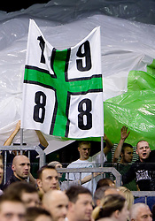 Fans Green Dragons at Euroleague basketball match of Group C between KK Union Olimpija, Ljubljana and Maroussi B.C., Athens, on October 29, 2009, in Arena Tivoli, Ljubljana, Slovenia. Olimpija lost 75:81.  (Photo by Vid Ponikvar / Sportida)