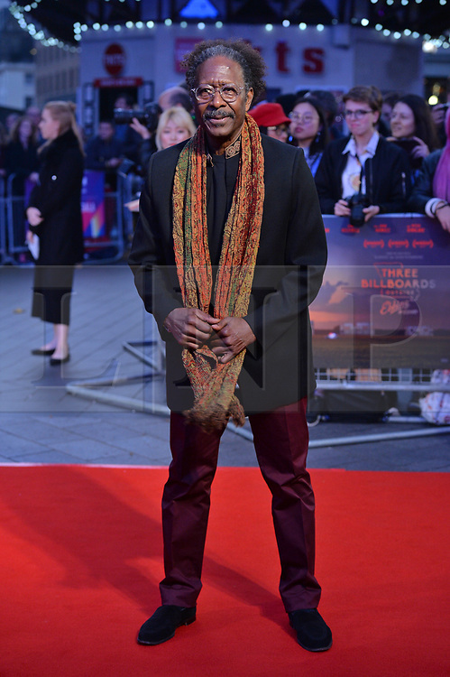 © Licensed to London News Pictures. 15/10/2017. London, UK. CLARKE PETERS attends the Three Billboards Outside Ebbing Missouri Film UK Premiere showing as part of the 51st BFI London Film Festival. Photo credit: Ray Tang/LNP