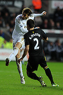 Swansea city's Michu scores his sides 1st goal. Barclays Premier league, Swansea city v Norwich city at the Liberty Stadium in Swansea, South Wales on Saturday 8th Dec 2012. pic by Andrew Orchard, Andrew Orchard sports photography,