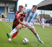 Dundee's Paul McGowan and St Johnstone&rsquo;s Chris Millar - Dundee v St Johnstone, SPFL Premiership at Dens Park <br /> <br />  - &copy; David Young - www.davidyoungphoto.co.uk - email: davidyoungphoto@gmail.com