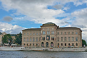 Nationalmuseum, the national art gallery of Sweden, on the Blasieholmen peninsula in central Stockholm, summer 2011. The building is currently undergoing renovations and is slated to reopen in 2017.