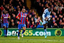 Yaya Toure of Manchester City scores a goal to make it 2-1 - Photo mandatory by-line: Rogan Thomson/JMP - 07966 386802 - 06/04/2015 - SPORT - FOOTBALL - London, England - Selhurst Park - Crystal Palace v Manchester City - Barclays Premier League.