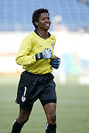 3 July 2004: Briana Scurry before the game. The United States beat Canada 1-0 at the The Coliseum in Nashville, TN in an womens international friendly soccer game..
