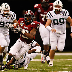 December 18, 2010; New Orleans, LA, USA; Troy Trojans wide receiver Jerrel Jernigan (3) runs against the Ohio Bobcats during the first half of the 2010 New Orleans Bowl at the Louisiana Superdome.  Mandatory Credit: Derick E. Hingle